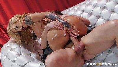 Big ass milf rides dick like she's a deity of anal