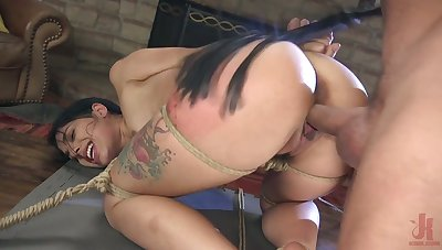 Quite bootyful gloominess Gina Valentina deserves some really hard doggy banging
