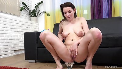 Bitch hither saggy tits, insolent pissy porn primarily cam