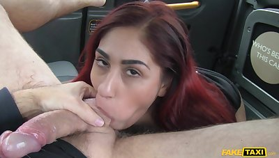 Squirting redhead girl Sahara Knite gets fucked all over get under one's back of car