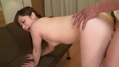 Naked Japan wife feels it in both holes