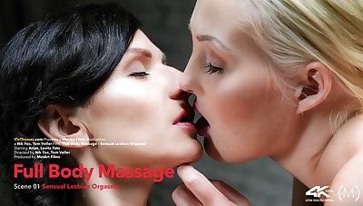 Full Setting up Massage Episode 1 - Sensual Lesbian Orgasms - Arian & Lovita Fate - VivThomas