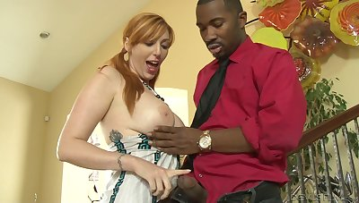 That black man has a detect on him that makes a hot MILF Lauren Phillips drool