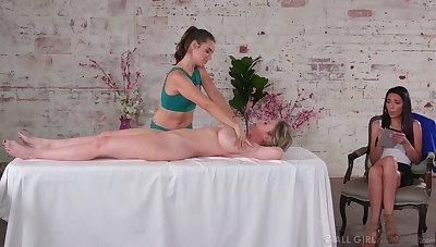 Knead leads these aroused women with a fantastic oral play