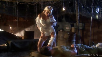 Blonde nurse Brooke Qualified in drops her uniform to be fucked hard