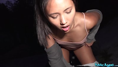 Asian amateur filmed as soon as dealing with tourist's cock
