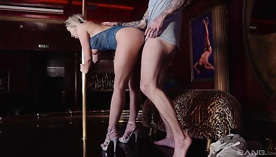 Sexy peaches woman ass fucked at the club and made to swallow