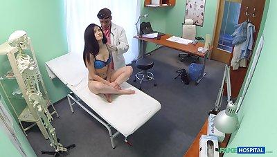 Unsatisfactory doctor slides his dick in wet pussy of Vanessa Radiate