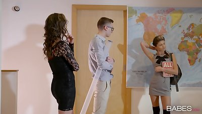 Horny babes Gina Gerson with the addition of Niki Beloved team up for four unsparing prick