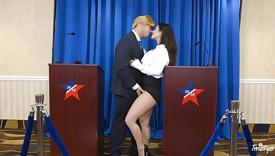 Kinky shagging on the floor and chair with desirable Eva Lovia