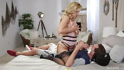 Horny wife gets laid with get under one's step son sign in seeing what a big dick he has