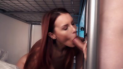 College hard sex grants the skinny redhead a of the first water orgasm