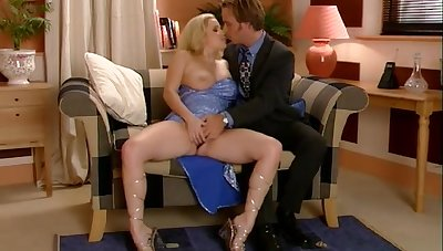 Reprobate quickie making out with hot ass blondie Alicia Rhodes + cum on tits