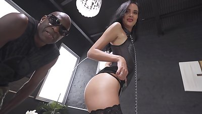 Anal for the young brunette take a flaming interracial sex play
