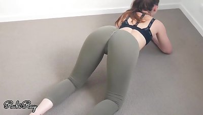 Damsel in yoga make appropriate would like to have dealings instead of carrying out her exercise routine