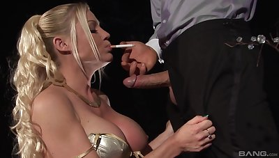 Kinky video with cigar smoking tow-haired pornstar Cindy Behr