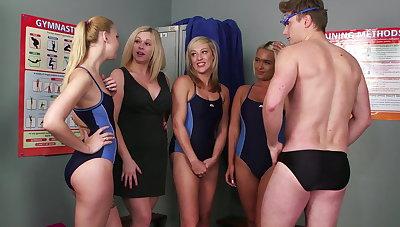 Swim team launching