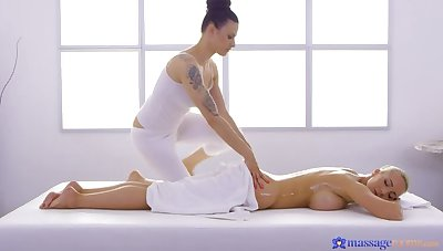 Sensual Lesbian Operative Body Massage for Busty MILF ft. 69