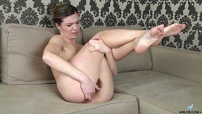 Hairy pussy mature Agatha enjoys pleasuring her cravings. HD