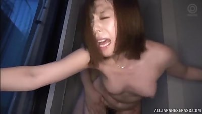 Quickie fucking uneaten adjacent to a creampie be advisable for a hot ass Japanese girl
